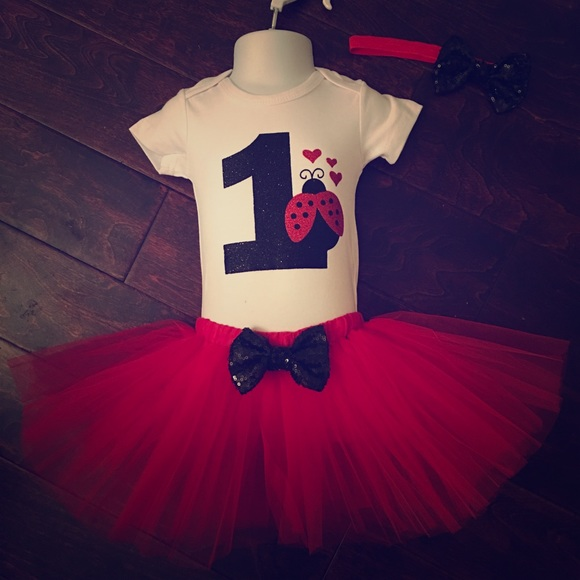 f78242b21 Matching Sets | Ladybug Boutique 3 Piece 1st Birthday Tutu Outfit ...